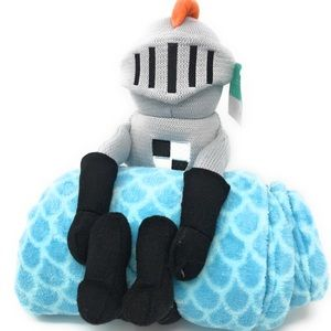 Kids knight throw and pillow buddy set